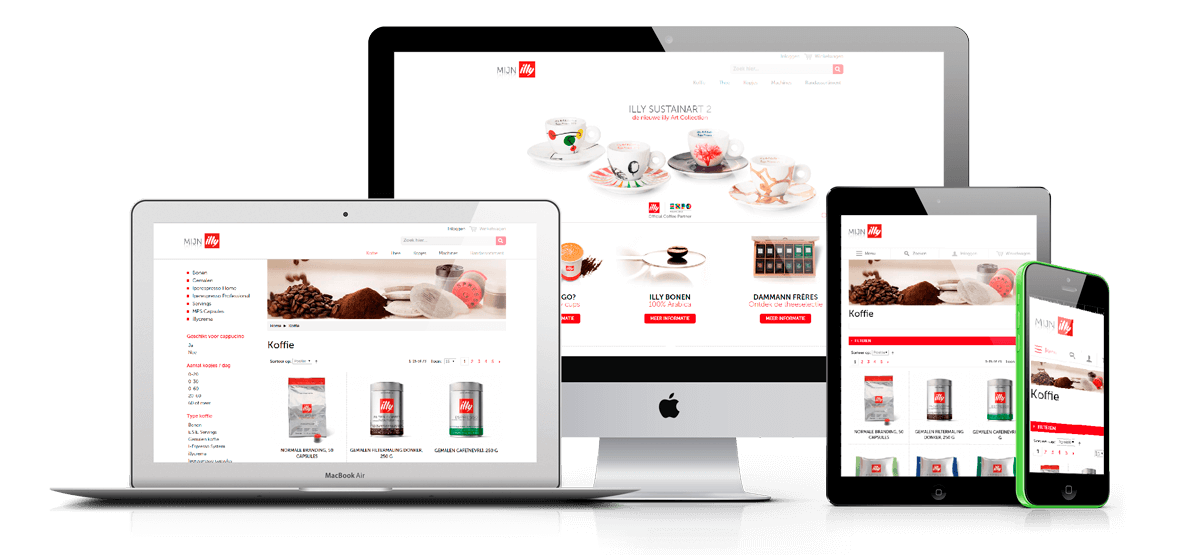 illy webshop in Magento